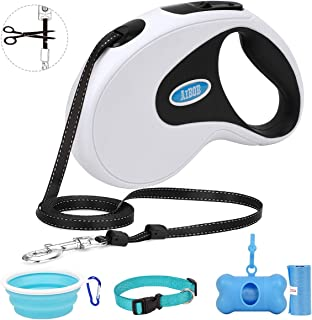 AiBOB Sturdy Retractable Dog Leash, 16 ft Dog Walking Leash for Small Medium Dogs up to 64lbs, One Touch Locking System