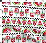 Wassermelone, Melone, Früchte, Streifen, Wasserfarben