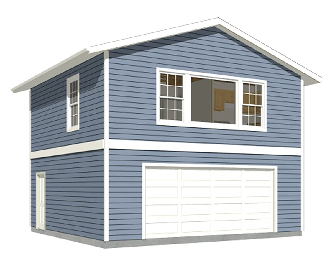 Garage Plans: Two Car, Two Story Garage With Apartment - Plan 1107-1apt