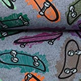 Swafing / Baumwoll Jersey/Malin / Skateboards / 2 Farben