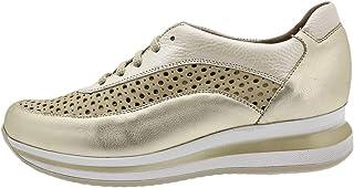 PieSanto Chaussure Femme Confort Sneaker Metal Platino 190763