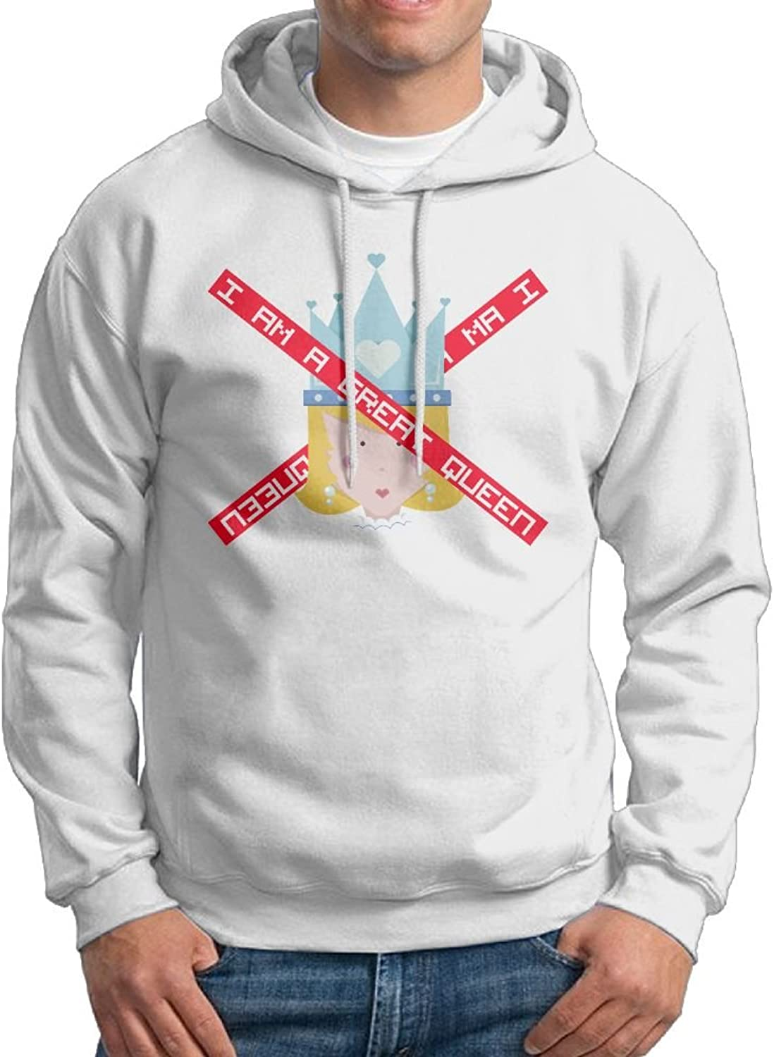 Men Queen With Crown Cool Couple Bts Hoodie Print Graphic