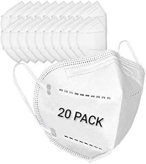 Disposable Earloop Face Mask, Dimensional protection PM2.5, Size: Medium, Suitable for daily protection. (20 PACK)