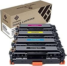 ZOOMTEC Compatible con HP CE410X (305A/305X) Cartucho de tóner para Impresoras HP Laserjet Pro 400 Color MFP M475DN M475DW M451NW M451DN HP Laserjet Pro 300 Color M351A MFP M375NW (Paquete de 4)