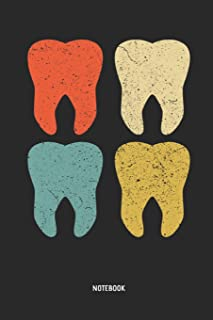 Dental Journal: Retro Teeth Dentist, Dental Hygienist & Assistant Notebook. Great Accessories & Novelty Gift Idea for all Dental Professionals.