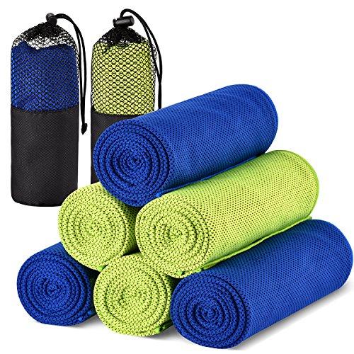 Kühlendes Handtuch Kühltuch Cool Handtuch,Sofort Kaltes Cooling Towel,Schnell Trocknend Kaltes Eis Handtuch,120cmX30cm für Fitness Yoga Camping Wandern