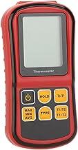 Fishingking GM1312 - Termómetro Digital de Doble Canal para termopar K/J/T/E/R/S/N con LCD contraluz