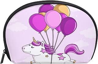 ALAZA Unicorn Ballon Half Moon Cosmetic Makeup Toiletry Bag Pouch Travel Handy Purse Organizer Bag for Women Girls