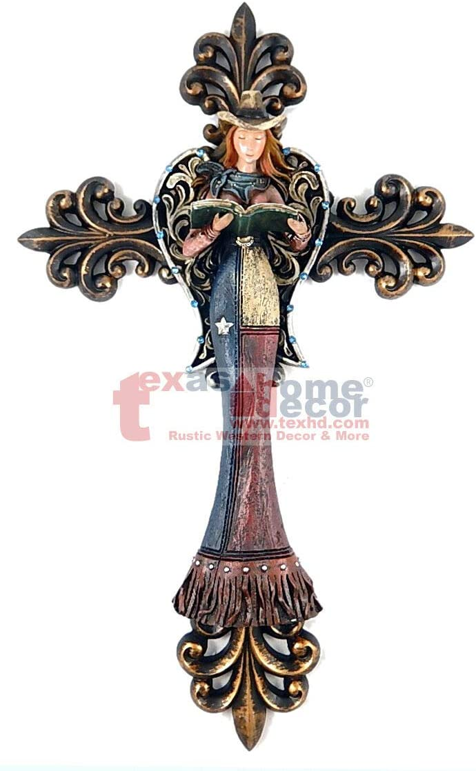 Wall Sign Vintage Antique Style Cowgirl Max 40% OFF F Angel Texas Ranking TOP18 Cross