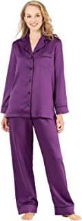 PajamaGram Womens Pajamas Soft Satin - Pajama Set for Women