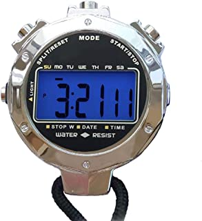 LAOPAO Stopwatch,1/100th Second Clock Daily Rainproof Digital Timer for Sports Match,Competition,Coach,Referee,Training,Timing