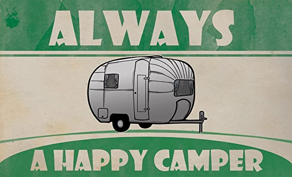 Happy Camper Doormat 18 X 30