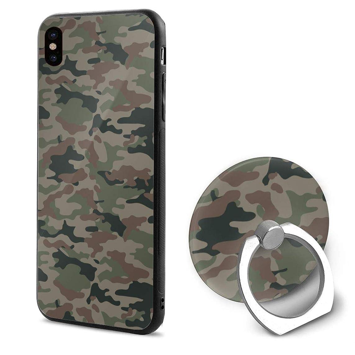 マウスロック理論的IPhonexケース スマホX ケース スマートフォンX ケース リング付き リングホルダー付き スマホリング 迷彩 携帯Xカバー ホールドリング アイフォンX ケース 耐衝撃 落下防止 薄型