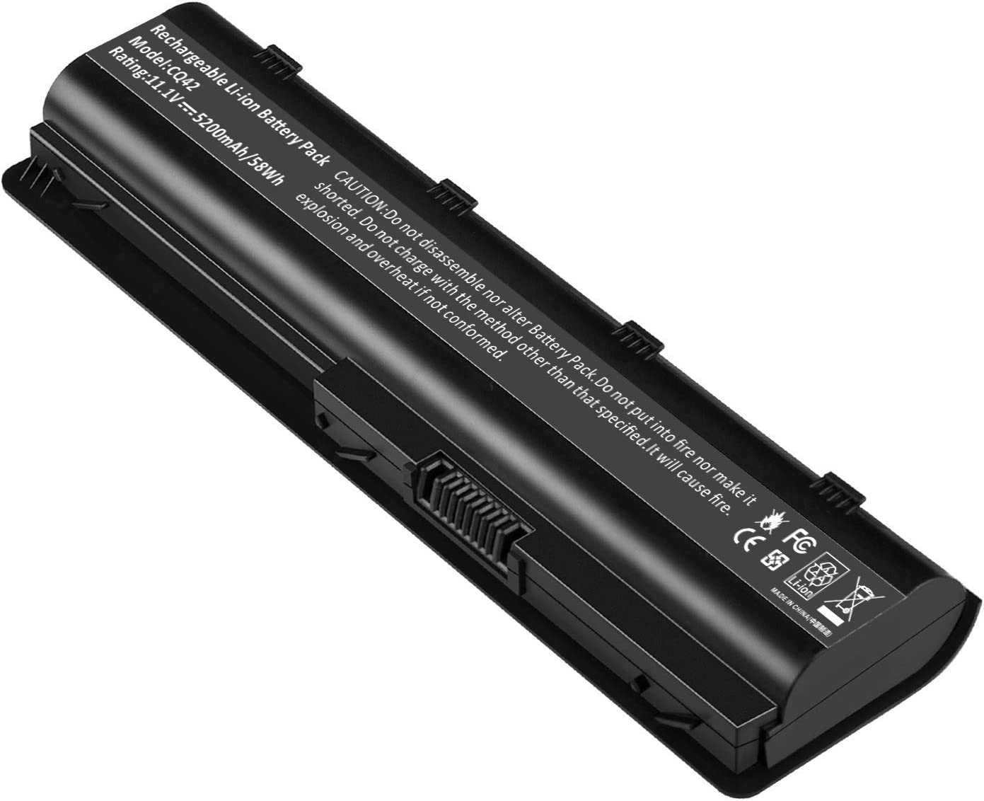 Replacement Battery for HP Spare 593553-001, HP Compaq Presario CQ32 CQ42 CQ43, HP Pavilion dm4 g4 g6 g7 DV3-4000 DV5-2000 DV6-3000 DV7-6000, COMPAQ 435 436, fits HP MU06 (5200mAh)