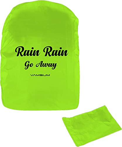 Vamsum Waterproof Backpack Rain Dust Cover for Laptop Bags and Backpacks Free Size Green with Pouch