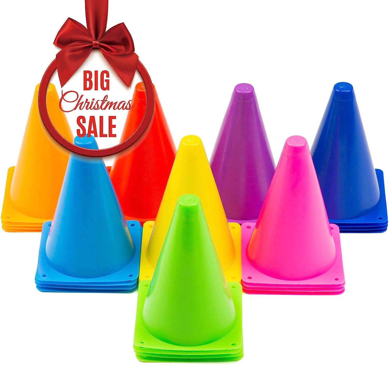 b4afb85fa Cadamada Traffic Cones Football Training Traffic Cone Indoor Outdoor  Agility Cones Sports Soccer Flexible Cone 32Pcs8 colors Sets Cone  nowcel7412-Sporting ...
