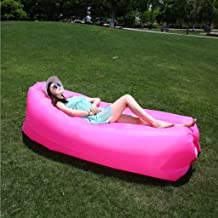WHPSTZ Lazy Couch Outdoor Portable Inflatable Sofa Lunch Break Air Cushion Sheets People Camping Beach Bed Air Sofa Lazy Sofa (Color : Pink)