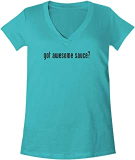 The Town Butler got Awesome Sauce? - A Soft & Comfortable Women's V-Neck T-Shirt