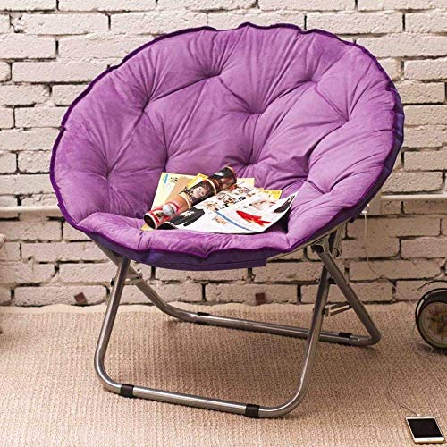 Moon Chair/Lounger Chair/Mittagspause Falten Stuhl/Rückenlehne Stuhl/Liegestuhl Einzel (Farbe: Lila) 8bayfa