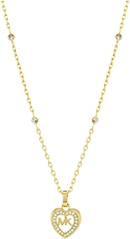 Michael Kors - Love Is In The Air Pave Heart Pendant Necklace