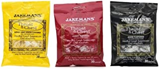 Jakeman's Throat and Chest Lozenges (3 Bags, 3 Flavors)