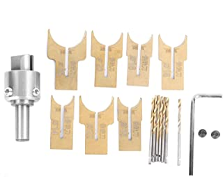 brocas para trabajar la madera Juego de brocas de cuentas de madera de 18 piezas 14-25 mm broca de bolas en forma de C cuentas de madera para hacer cuentas cortador de fresado para palisandro