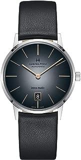 Hamilton - H38455781 Intra-Matic Reloj automático de los hombres de cuero negro