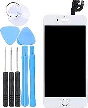 LL TRADER Pantalla para iPhone 6 Blanco 4.7, Táctil LCD de Repuesto Ensamblaje de Marco Digitalizador con Botón de Inicio + Cámara Frontal + Sensor de Proximida + Altavoz + Herramiento