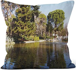 Nine City Quinta de Los molinos Lake Throw Pillow Cushion Cover,HD Printing Decorative Square Accent Pillow Case,16