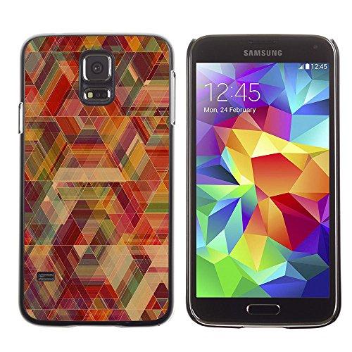 SuperStar // Immagine fredda Custodia rigida Calotta di protezione del PC Hard Case Protective Cover for Samsung Galaxy S5 / Neon Geometria /