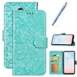 Robinsoni Case Compatible with Galaxy J4 2018 Phone Case Wallet Galaxy J4 2018 Leather Phone Cover Shockproof Kickstand Case Notebook Cover Flip Stand Book Case Heavy Duty Case Green