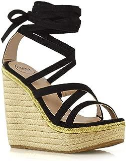 Womens Lace Up Sandals Ladies Wedge Heel Platform Strappy Espadrilles Shoes