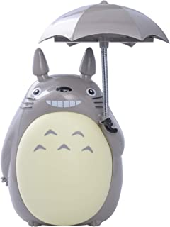 ONE250 My Neighbor Totoro Anime Lamp, Totoro Umbrella LED Night Light Kid's Character Desk Night Table Reading Lamp with USB Charger (Yellow Belly)