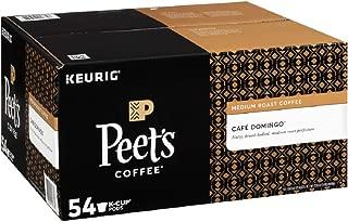 Peet's Coffee Café Domingo, Medium Roast, 54 Count Single Serve K-Cup Coffee Pods for Keurig Coffee Maker
