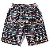 Amphia - Herren Shorts - Ethnic/Beach Pants - Loose/Straight/Thin - Bademode,Sommer Männer Paare Strand Floral Bohe Badeshorts Trunks Nickel Hosen Plus Größe