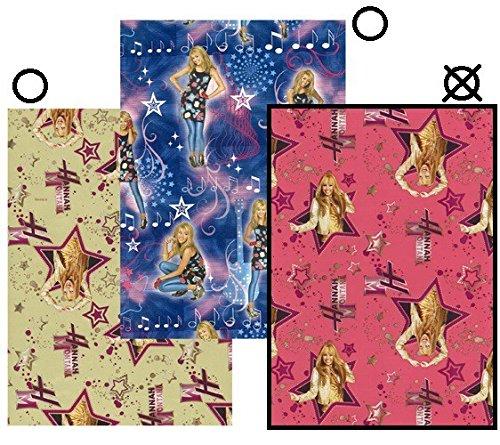 Disney Hannah Montana Geschenkpapier Rolle Gift Wrap 200x70 verschieden Farben, Farbe:Rot