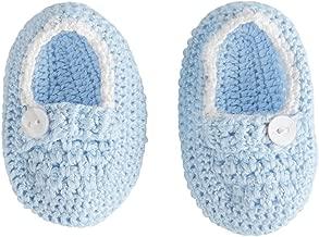 Mud Pie Baby Boys Crochet Booties, Blue, 0-6 Months
