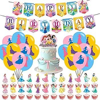 Princess Party Supplies,Disne_y Princess Cake Toppers  Princess Girl Birthday Party Supplies,Princess Theme Birthday Party Favors for Girl Party Supplies