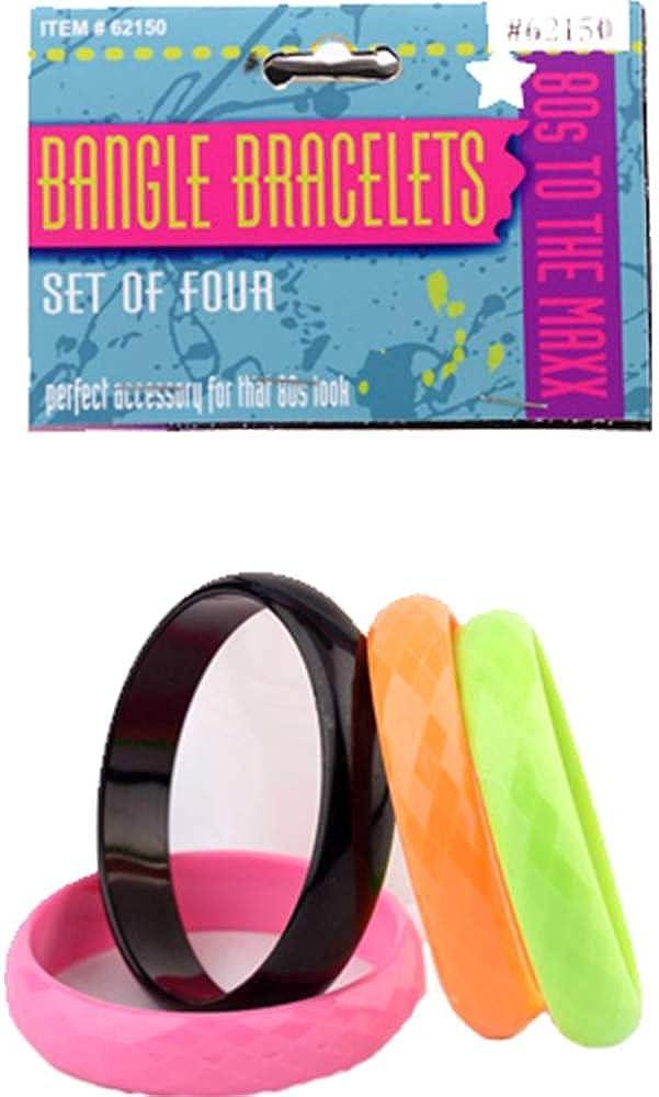 Forum Novelties Inc - 80's Bangle Bracelet Set (4 piece)