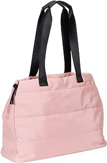 SIX Rosafarbene Handtasche gefüttert mit schwarzen Henkeln, Shopper (726-963)