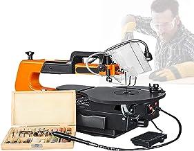 HTDHS Sierras de Desplazamiento de 120 vatios, Sierras de Desplazamiento Profesional con Eje Flexible y Accesorios de 100 unids, Grosor de Corte de 50 mm / 2