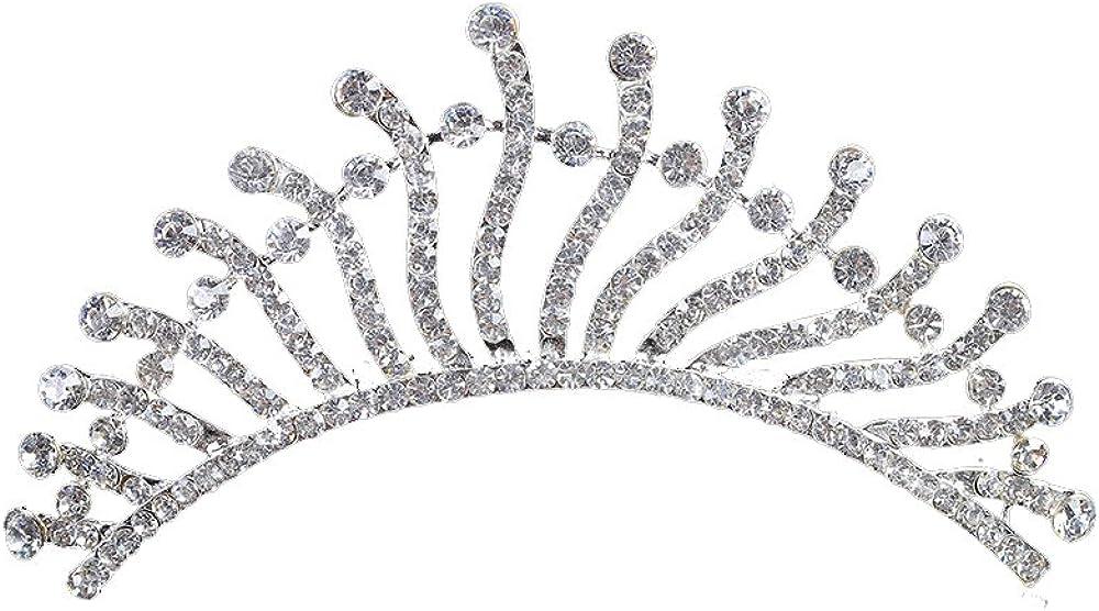 Women Silver Jewelry Vintage Wedding Bride Rhinestone Headband Crown Tiara Hair Accessories