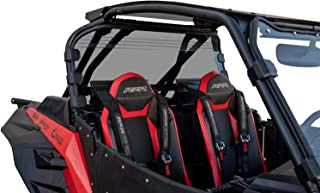 SuperATV Heavy Duty Dark Tint Rear Windshield for【2018+ Polaris RZR Turbo S/RZR Turbo S4】 | Does NOT fit RZR 1000 or RZR XPT | 250X Stronger Than Glass!