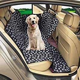 MATCC Dog Car Seat Covers Protector Dog Accessories Back Seat Covers Waterproof & Scratch Proof & Nonslip Pet Covers for Travel Rear Seat Protector Universal for Cars Truck SUV Hammock
