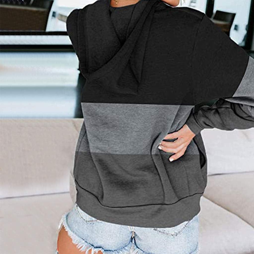 Womens Hoodies Zip Up,Women Casual Stripe Sweatshirts Teen Girls Crop Tops Blouse Zip Up Pullover Hooded