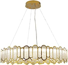 Atmospheric Stainless Steel Chandelier with High-Quality Glass Lampshade for Living Room Dining Bedroom Clothing Store Lam...