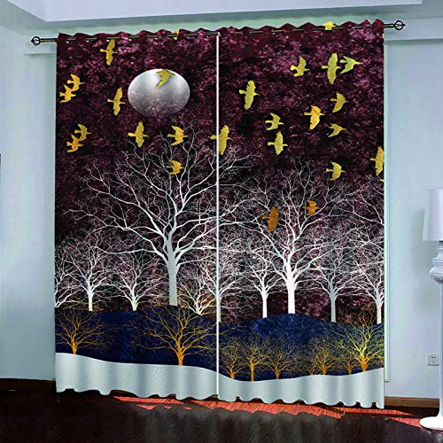 Fashion Home Creative Decorative Curtains Simple And Versatile Style Suitable For Curtains Of Gardens, Hotels, Playgrounds 2 Pieces