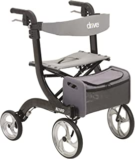 Drive Medical Nitro Euro Style Black Rollator Walker, Black