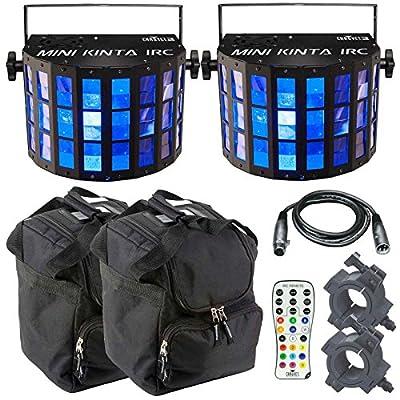 2 x Chauvet Mini Kinta IRC High Power 3W LED DJ Disco Package