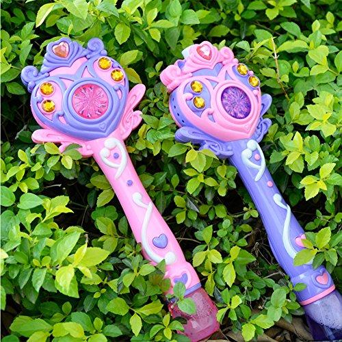 ACHICOO Vollautomatische Bubble Machine Zauberstab, Bubble Gun Spielzeug mit Musik und Licht Pink Gag-Geschenke für Kinder
